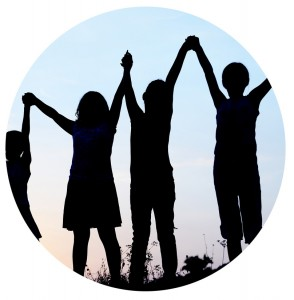 kids holding hands_circ
