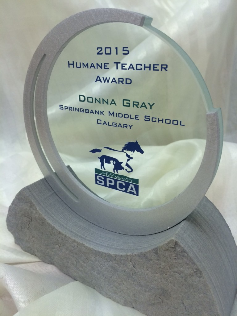 2015 Humane Teacher Award