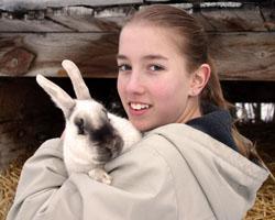 girl&bunny250x200
