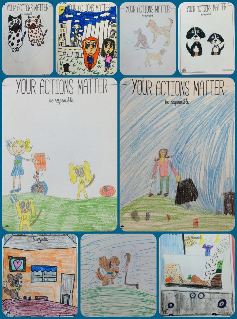Your Actions Matter Posters by Grade 4 Students